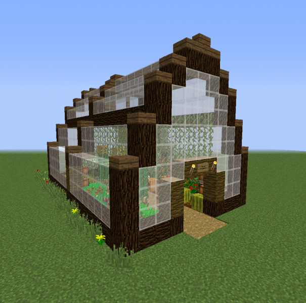 Adacia Greenhouse Blueprints For Minecraft Houses Castles Towers And More Grabcraft