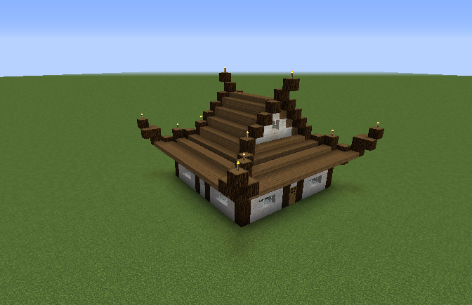 Asian House 1 Blueprints For Minecraft Houses Castles Towers And More Grabcraft