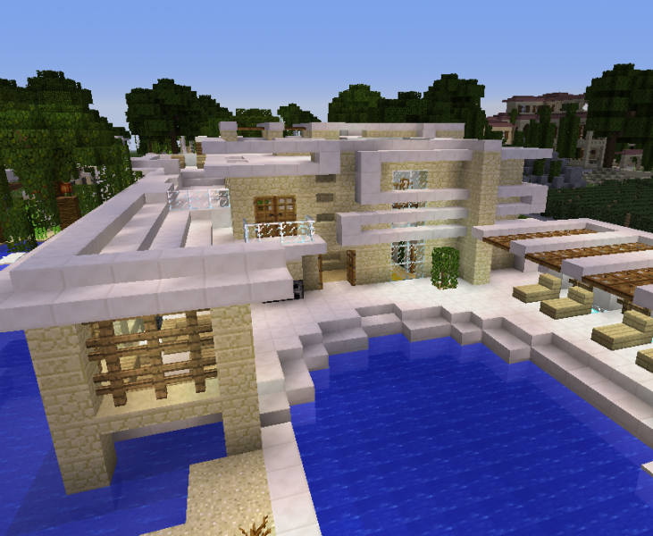 Big Modern House Blueprints For Minecraft Houses Castles Towers And More Grabcraft