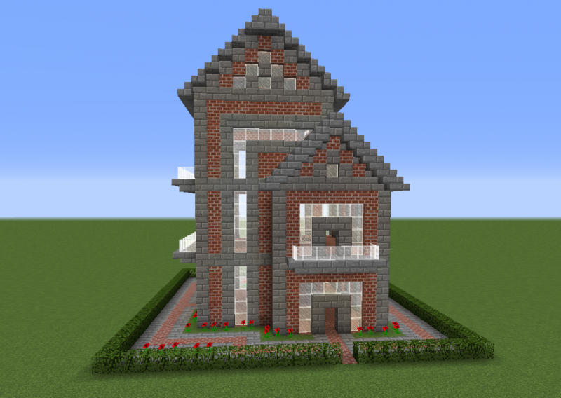 Brick House 12 Blueprints For Minecraft Houses Castles Towers And More Grabcraft