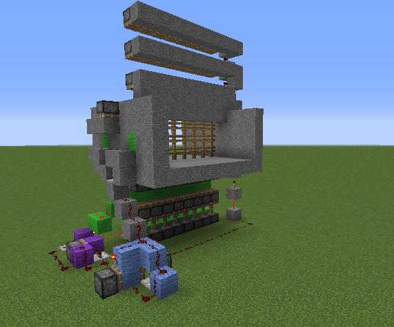 Working Castle Gate Blueprints For Minecraft Houses Castles