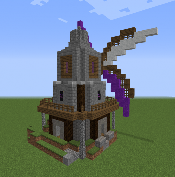 Dark Kingdom Windmill - Blueprints for MineCraft Houses ...