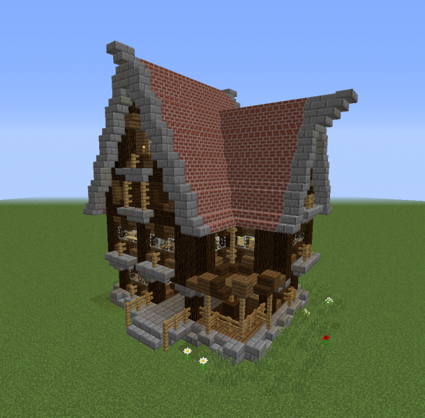 Detailed Medieval Bar Blueprints For Minecraft Houses Castles Towers And More Grabcraft
