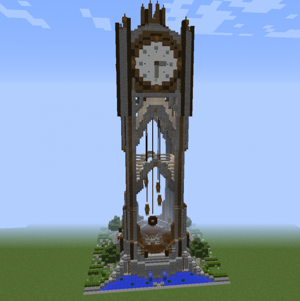 Dragon Kingdom Clock Tower Blueprints For Minecraft Houses Castles Towers And More Grabcraft