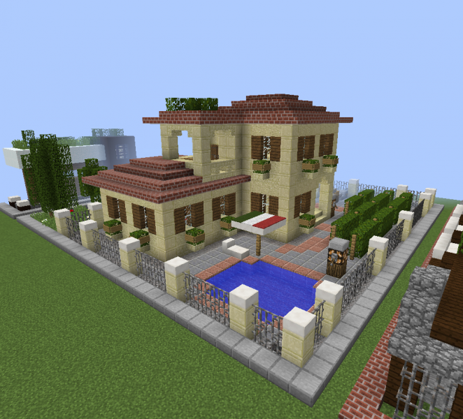 Elite Modern Seaside Villa Blueprints For Minecraft Houses Castles Towers And More Grabcraft