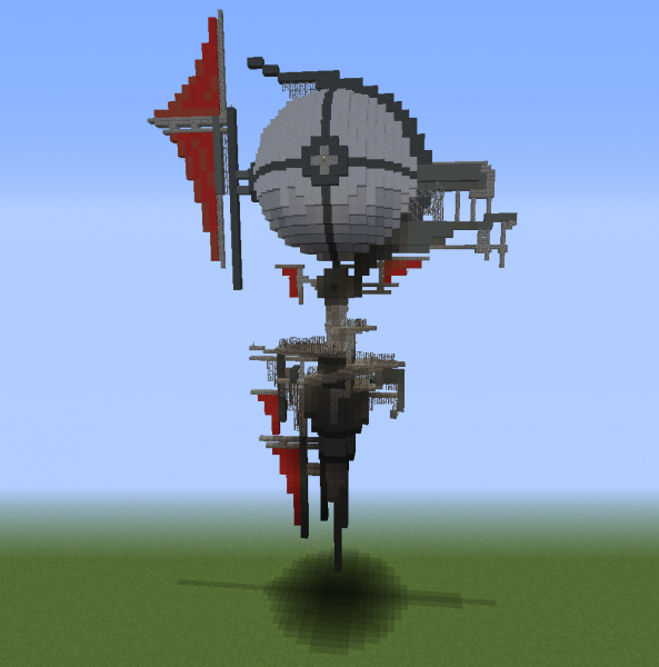 Fantasy Airship 2 - Blueprints for MineCraft Houses ...