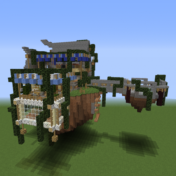 Fantasy Floating House 1 Blueprints For Minecraft Houses Castles Towers And More Grabcraft