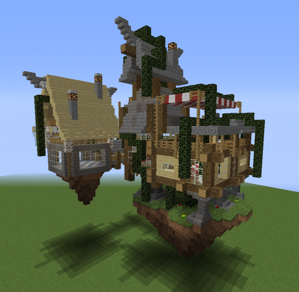 Fantasy Floating House 2 Blueprints For Minecraft Houses Castles Towers And More Grabcraft