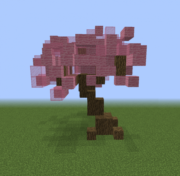 Fantasy Small Pink Tree Blueprints For Minecraft Houses Castles Towers And More Grabcraft