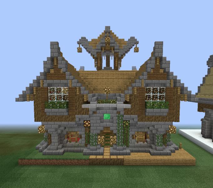 Fantasy Wooden Mansion 1 Blueprints For Minecraft Houses