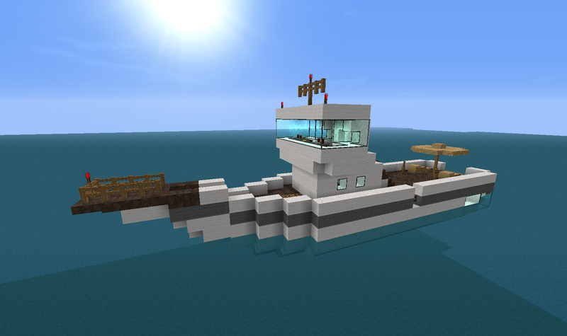моторная лодка майнкрафт #3