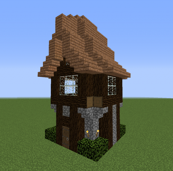Forest Starter House Blueprints For Minecraft Houses Castles Towers And More Grabcraft