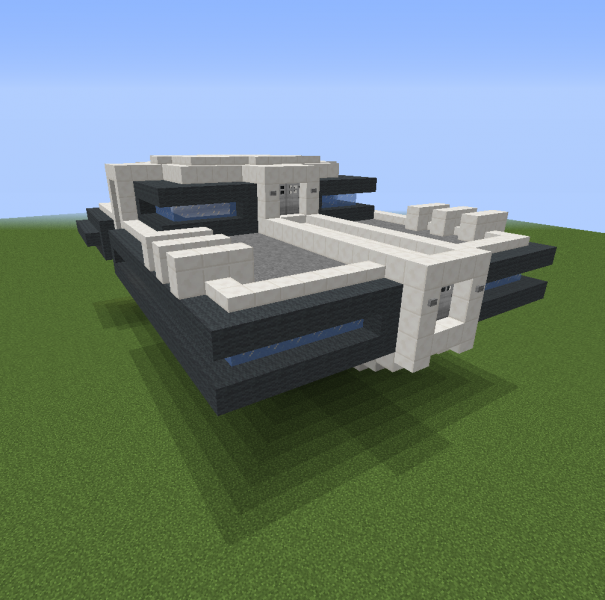 Futuristic Spaceship Blueprints For Minecraft Houses Castles Towers And More Grabcraft