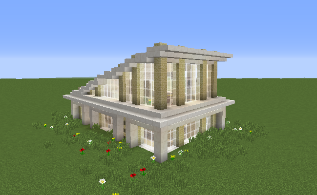 Glass Modern House Blueprints For Minecraft Houses Castles Towers And More Grabcraft