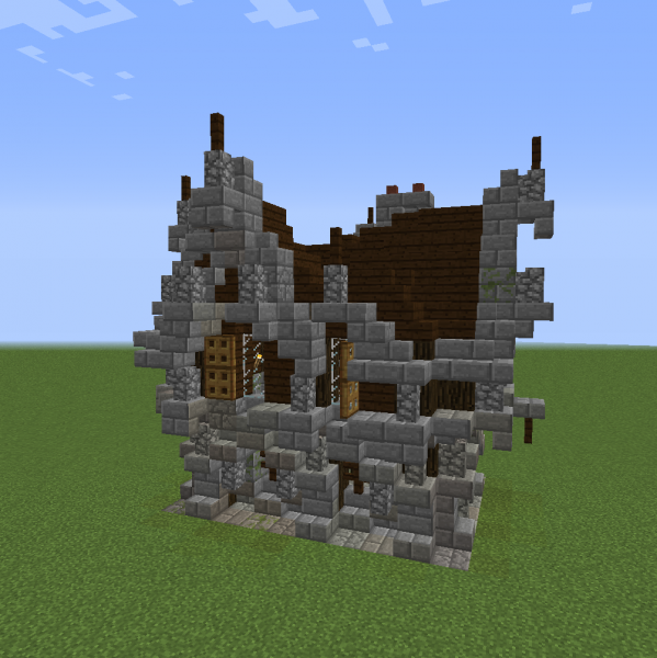 Gothic Medieval House 1 Blueprints For Minecraft Houses Castles Towers And More Grabcraft