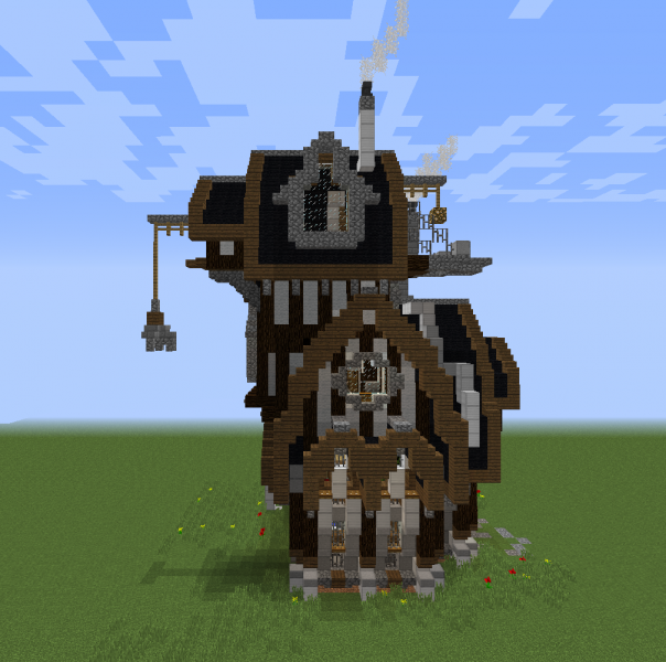 Industrial Steampunk House 2 Blueprints For Minecraft Houses Castles Towers And More Grabcraft