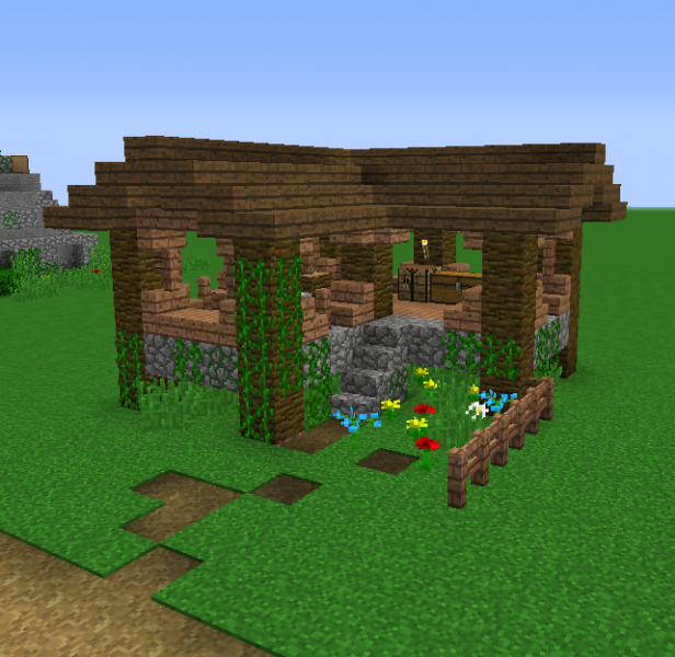 Jungle House 1 Blueprints For Minecraft Houses Castles Towers And More Grabcraft