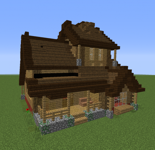 Large Medieval Farm House Blueprints For Minecraft Houses Castles Towers And More Grabcraft
