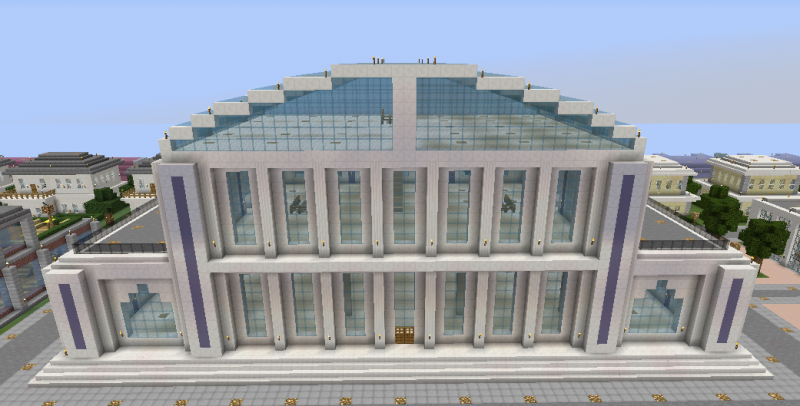 Large Multipurpose Modern Building 2 Blueprints For Minecraft Houses Castles Towers And More Grabcraft