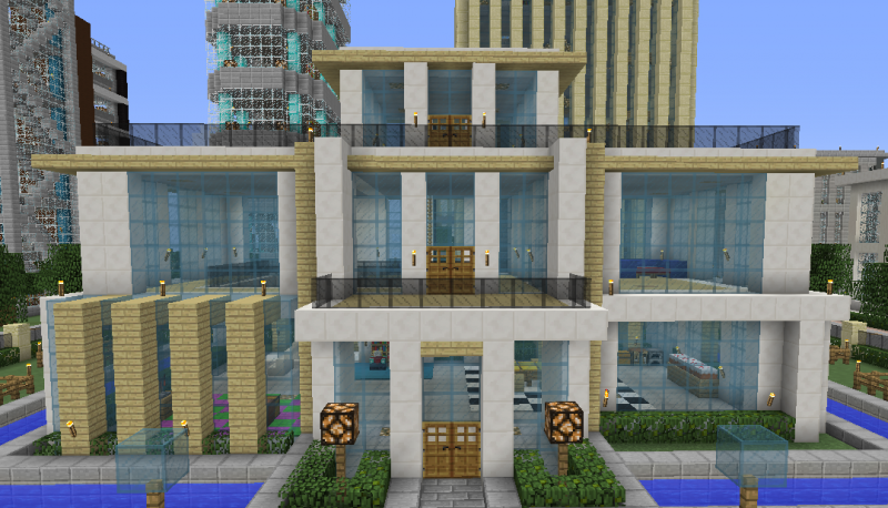 Luxurious Modern House 1 Blueprints For Minecraft Houses Castles Towers And More Grabcraft