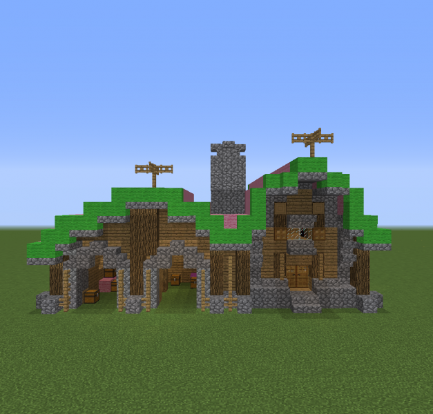 Medieval Barn House Blueprints For Minecraft Houses Castles Towers And More Grabcraft