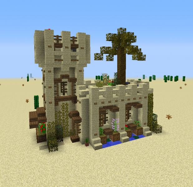 Medieval Desert House 3 Blueprints For Minecraft Houses Castles Towers And More Grabcraft