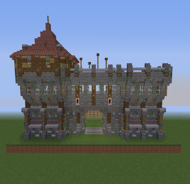 Medieval Fort Gate 2 V2 Blueprints For Minecraft Houses Castles