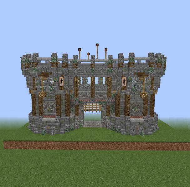 Medieval Fort Gate Blueprints For Minecraft Houses Castles