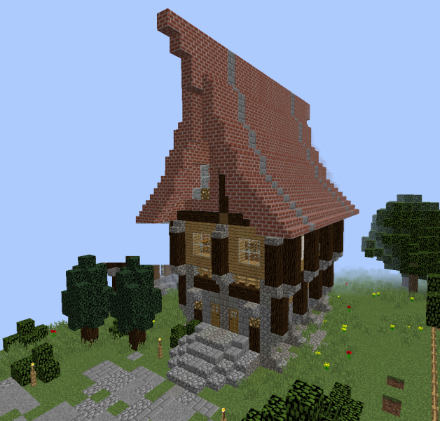 Medieval Island Village House 4 Blueprints For Minecraft Houses Castles Towers And More Grabcraft