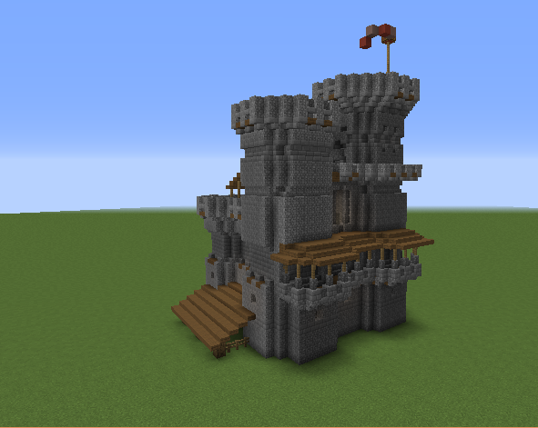 Medieval Keep Castle Blueprints For Minecraft Houses Castles Towers And More Grabcraft