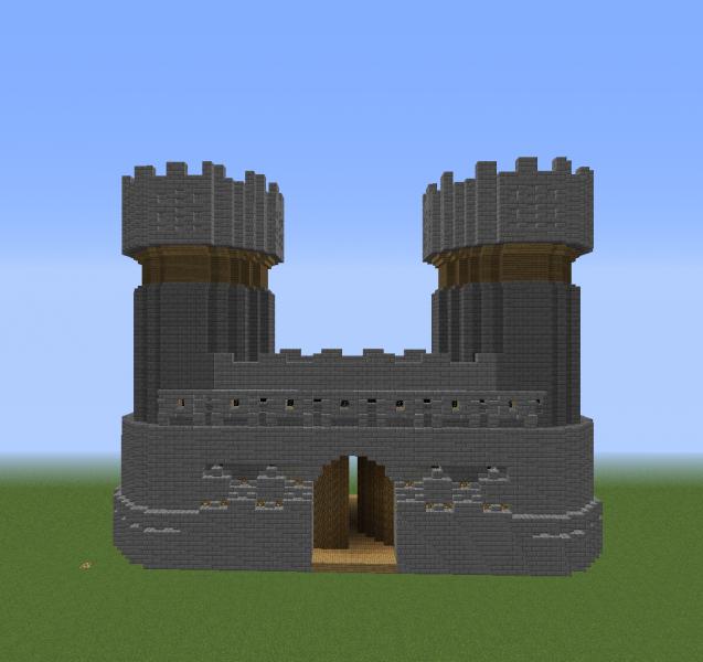 Medieval Kingdom Large Gate Blueprints For Minecraft Houses