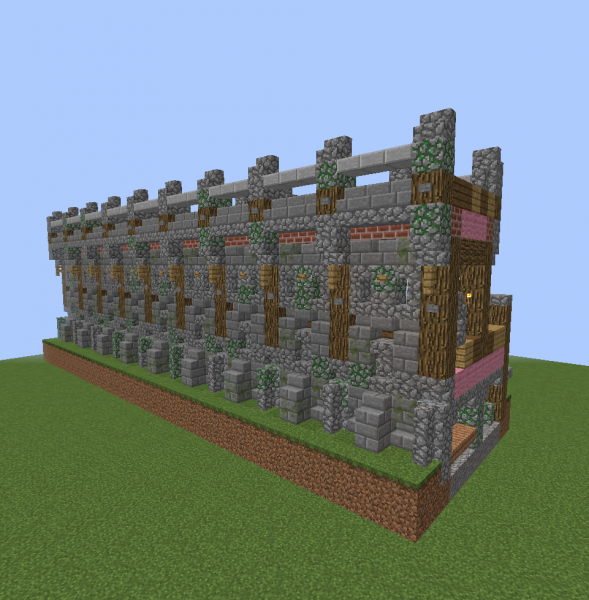 Medieval Short Castle Wall Blueprints For Minecraft Houses