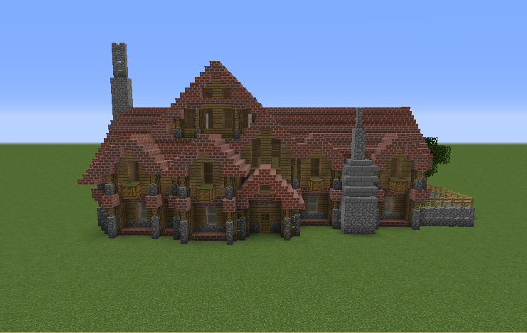 Medieval Survival Mansion Blueprints For Minecraft Houses Castles Towers And More Grabcraft