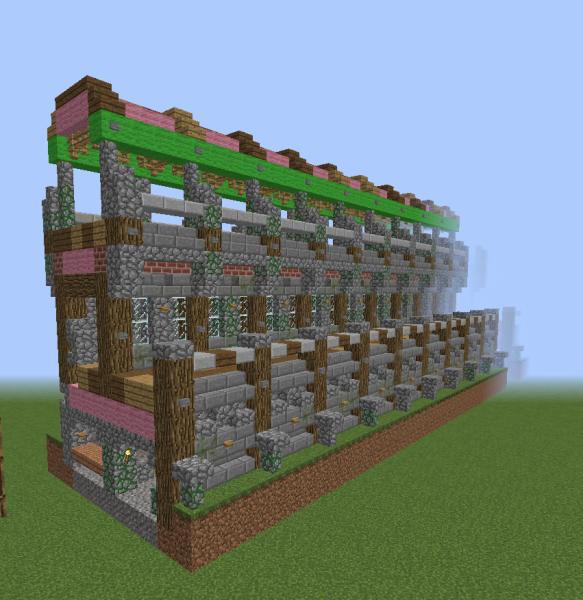 Medieval Tall Castle Wall Blueprints For Minecraft Houses