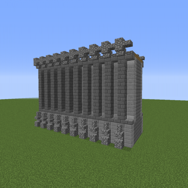 Medieval Tall Wall Segment Blueprints For Minecraft Houses