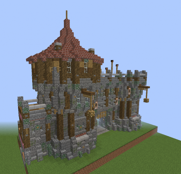 Medieval Wall Gate With Guard Tower Blueprints For Minecraft Houses Castles Towers And More Grabcraft