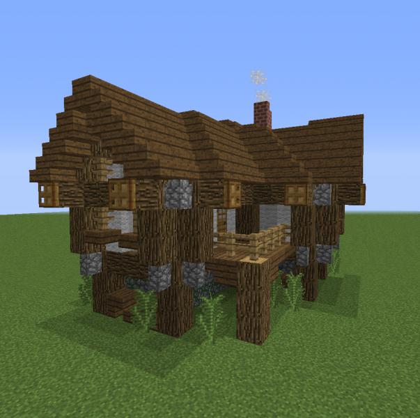 Medium Village Rustic House 1