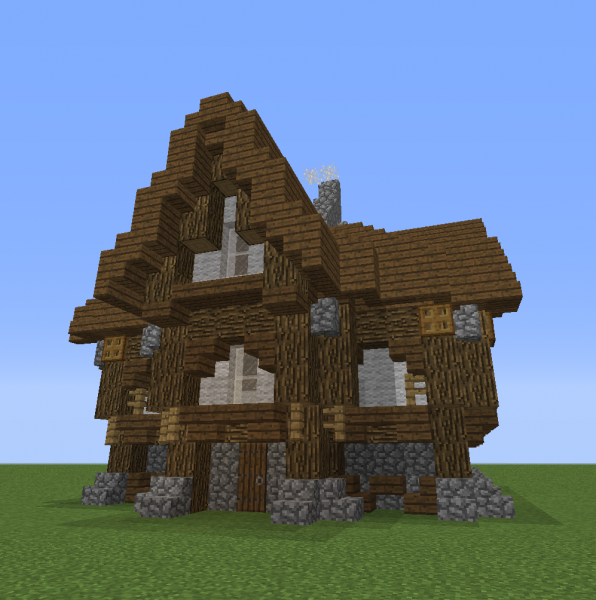 Medium Village Rustic House 2 Blueprints For Minecraft Houses Castles Towers And More Grabcraft