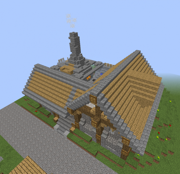 Middle Ages Blacksmith Forge Blueprints For Minecraft Houses Castles Towers And More Grabcraft
