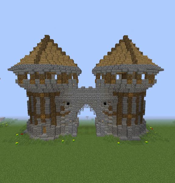 Middle Ages City Gates Blueprints For Minecraft Houses Castles