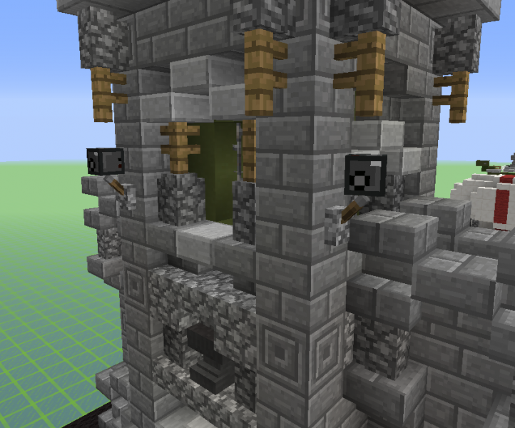 Military Base Tower With Wall