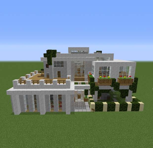 Modern 4 Bedroom House Blueprints For Minecraft Houses Castles Towers And More Grabcraft