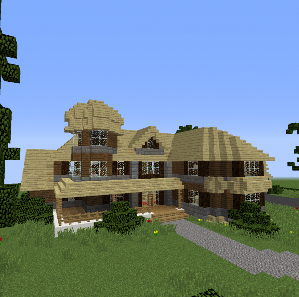 Modern Family House 1 Blueprints For Minecraft Houses Castles Towers And More Grabcraft