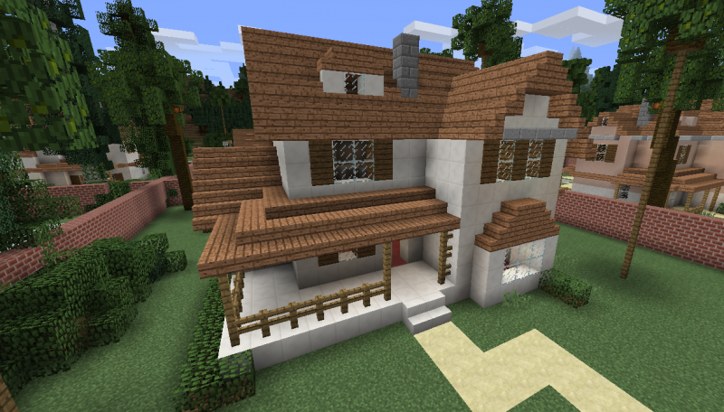 Modern Wooden House 8 Blueprints For Minecraft Houses Castles