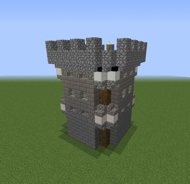 Oakshire Wall Tower Blueprints For Minecraft Houses Castles Towers And More Grabcraft