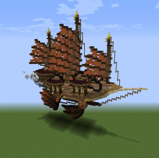 Oriental Steampunk Airship - Blueprints for MineCraft ...