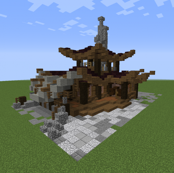 Oriental Steampunk House 6 Blueprints For Minecraft Houses Castles Towers And More Grabcraft