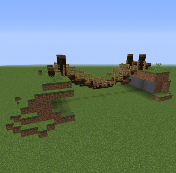 Rope Bridge 2 Blueprints For Minecraft Houses Castles Towers And More Grabcraft