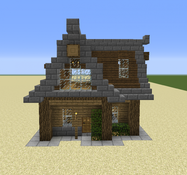 Rustici Modern Rustic House Blueprints For Minecraft Houses Castles Towers And More Grabcraft