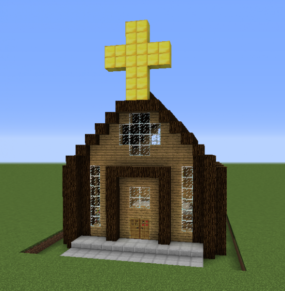 Simple Church Blueprints For Minecraft Houses Castles Towers And More Grabcraft